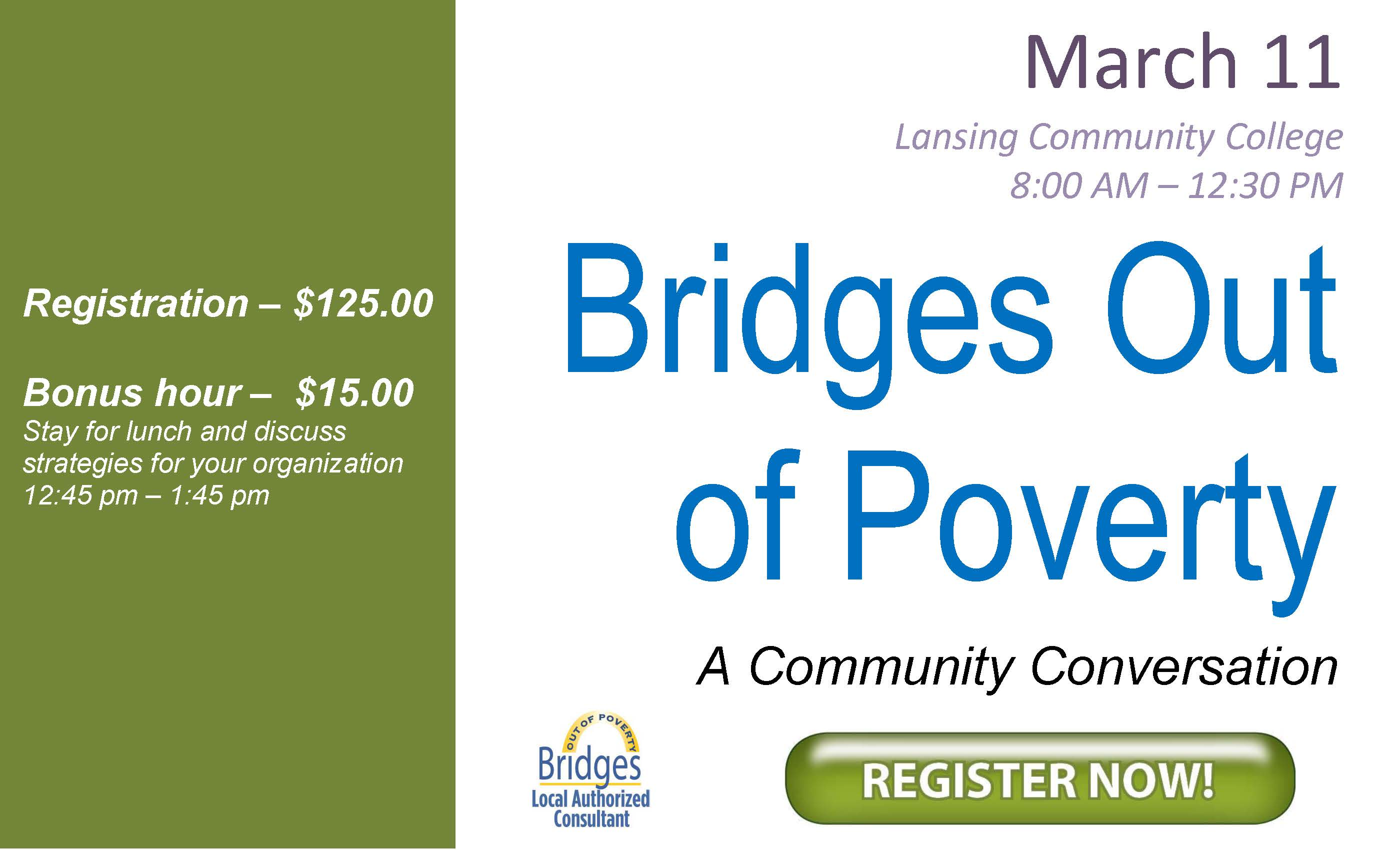 Click here to register for Bridges Out of Poverty